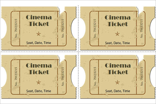 Premium Full Movie Ticket Template