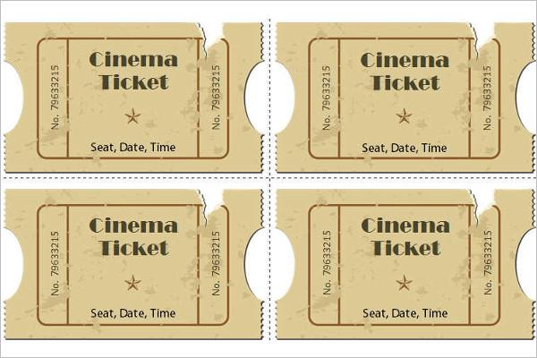 Premium Full Movie Ticket Template