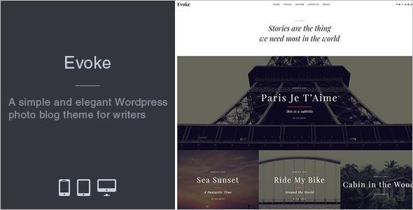 Premium Photo Blog WordPress Template