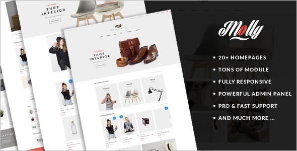 Prestashop HomePage Website Template