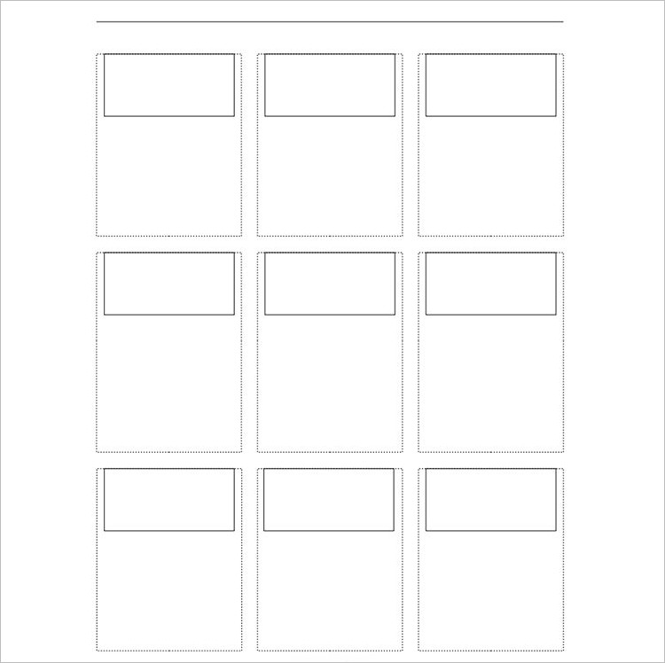 Printable Story Board template Form