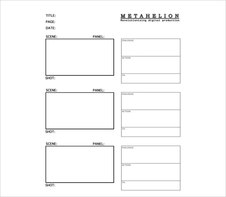 Production Story Board Template