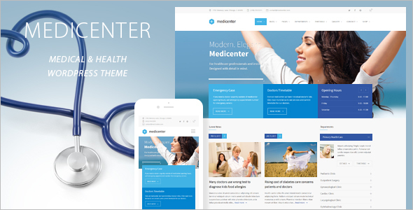 Professional Health WordPress Template
