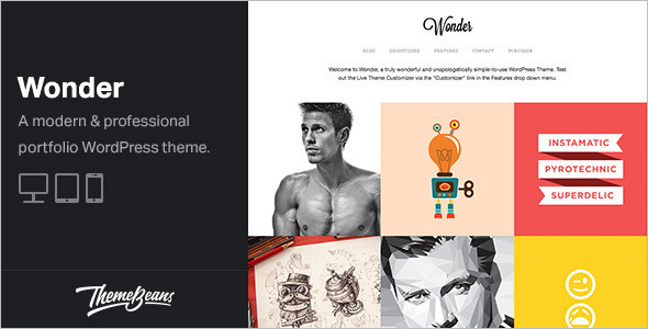 Professional Portfolio WordPress Template