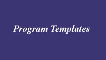 Program template