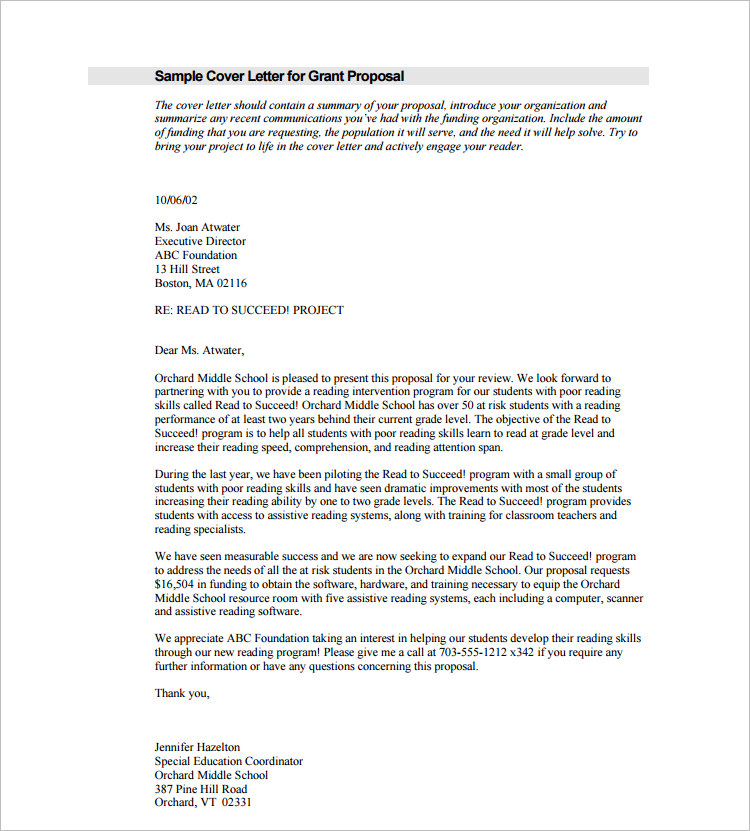 cover letter for business proposal