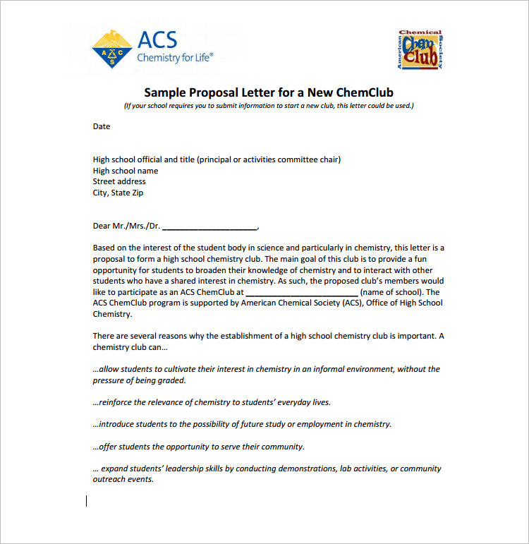 free proposal template word - 14 proposal letter templates free word pdf doc formats