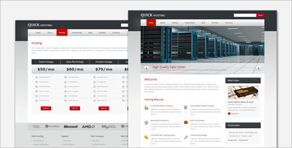 Quick Hosting WordPress Template