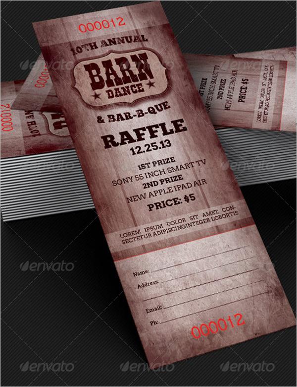 Raffle Ticket Design Idea