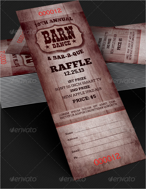 34 raffle ticket template free word pdf psd doc sample formats