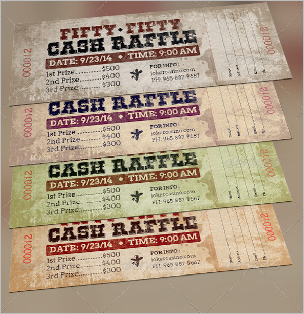 Raffle Ticket Template Illustrator