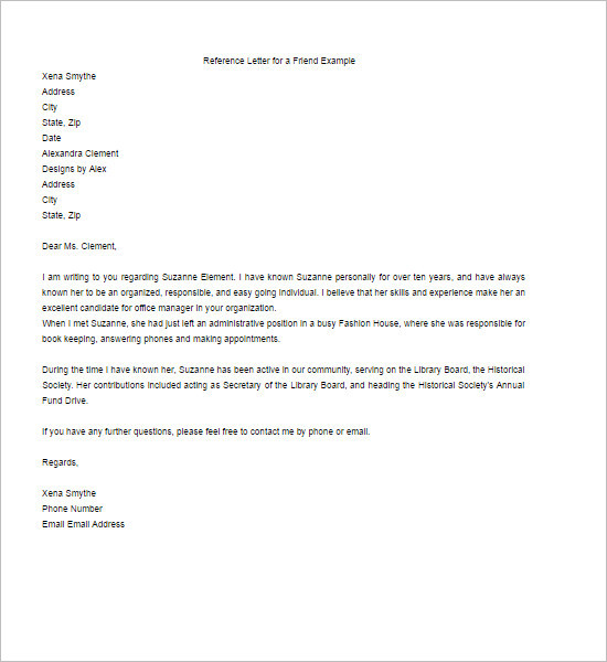 Re mendation Letter Template Free Word PDF Format