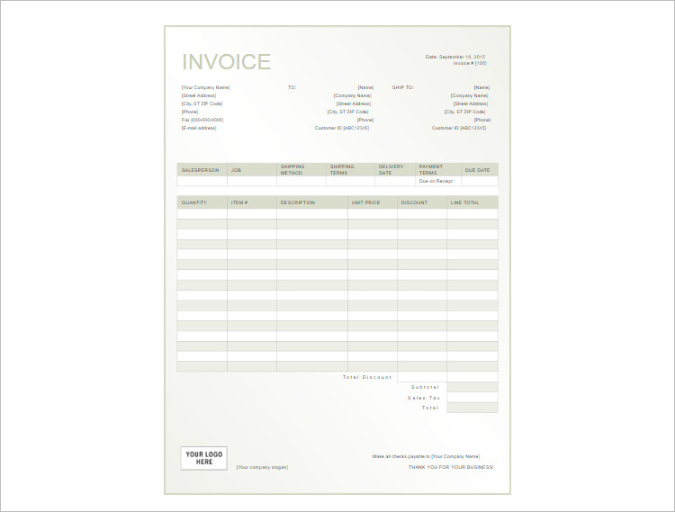 rent receipt template word documents