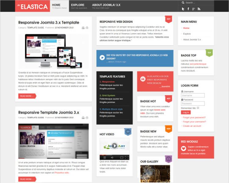 Responsive Mobile Joomla Template