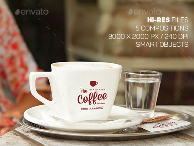 Restaurant Coffee Cup Mockup