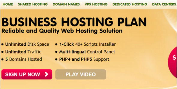 Sample Hosting WordPress Template
