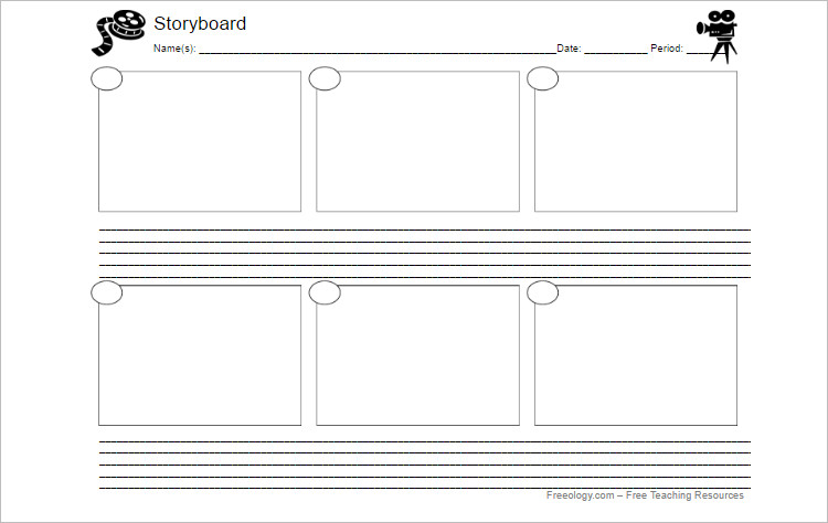 Storyboard Templates - Free Word, Pdf Documents Download