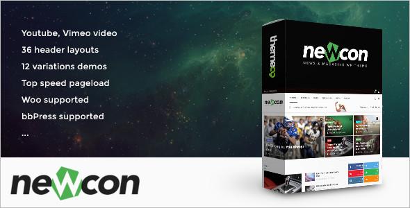 Sample Video wordPress template