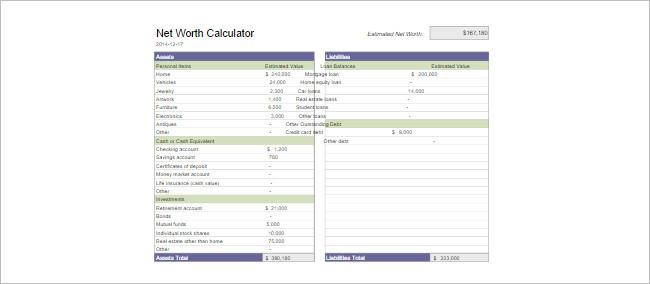 Savings Calculators Spreadsheet Template
