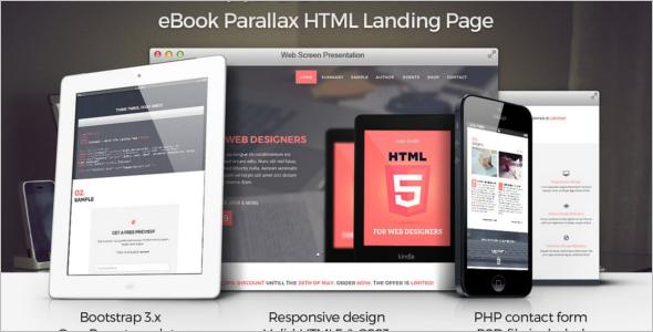 Scroll Ebook Landing Page Template