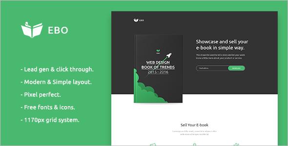 Simple Ebook Landing Page Template