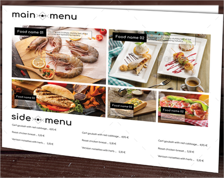 simple html menu template - 35 free menu templates pdf word documents download