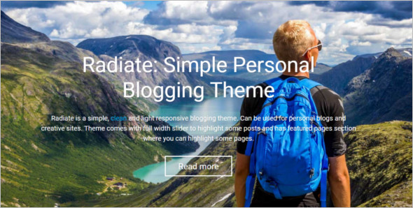 Simple Photo Blog WordPress template