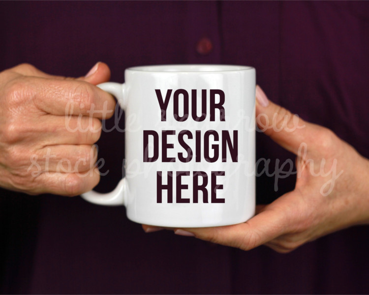 Simple Purple Coffee Mug Mock Up