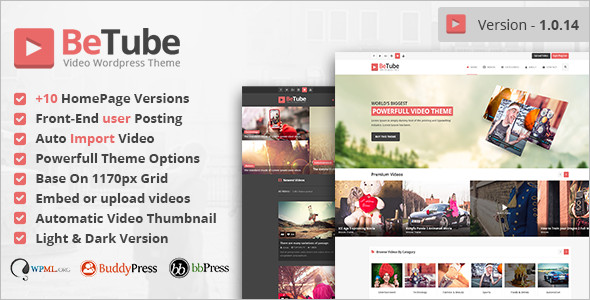 Simple Video WordPress Template