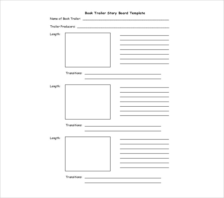Simple story board Template