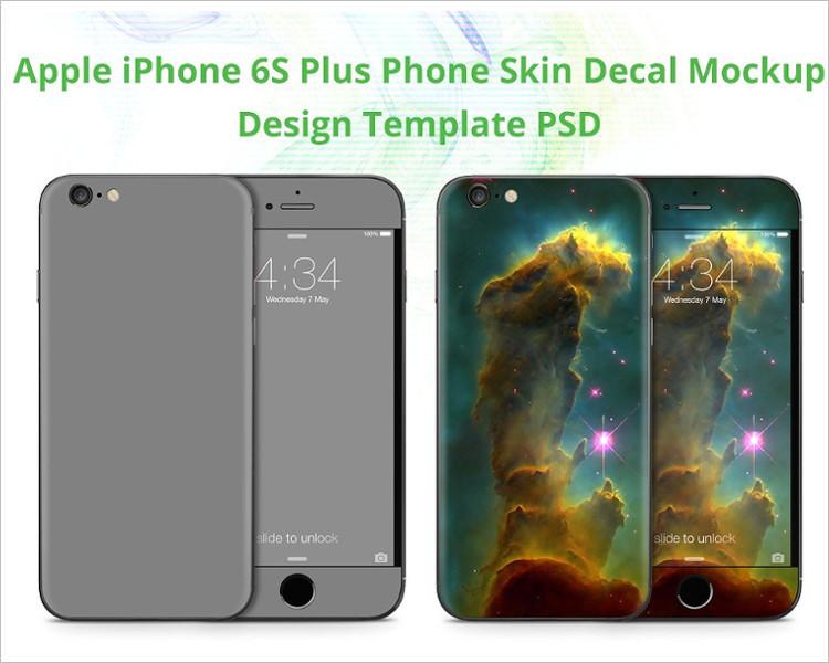 Skin Design iPhone Plus Mock-up