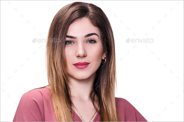 Smiling young beautiful woman picture
