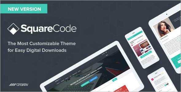Square Download WordPress Template