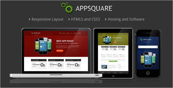 Square Hosting WordPress Template