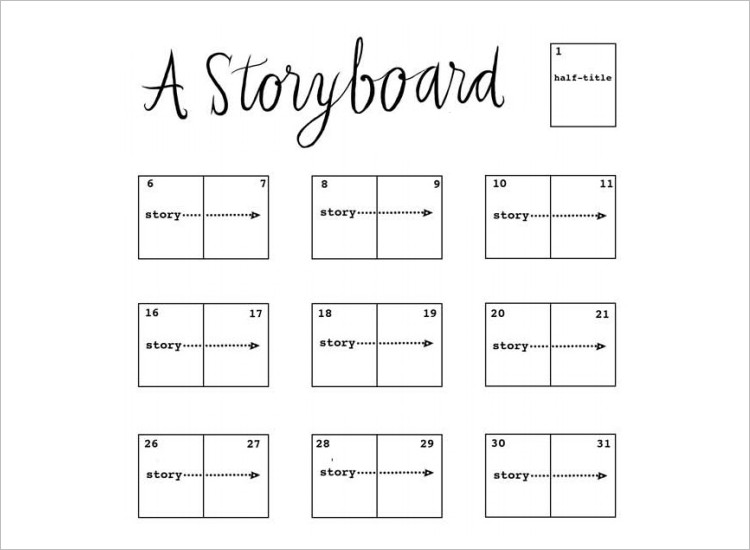 Storyboard Templates  Free Word Pdf Ppt Documents Download