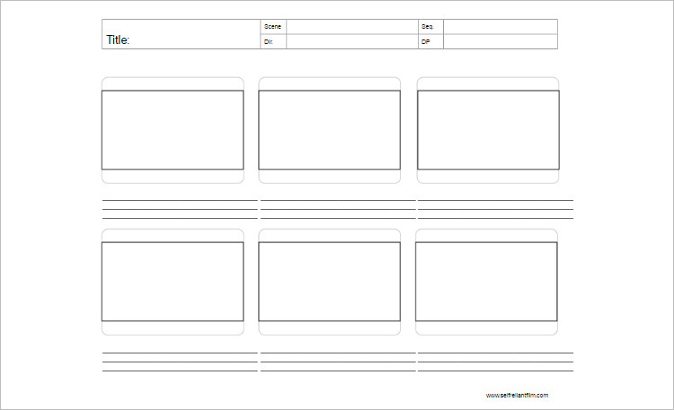 Story Board Template PDF Document