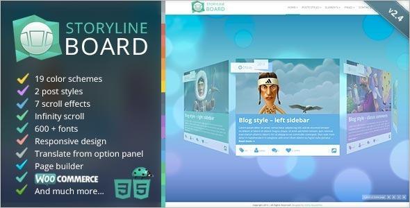 Storyline Board WordPress Theme