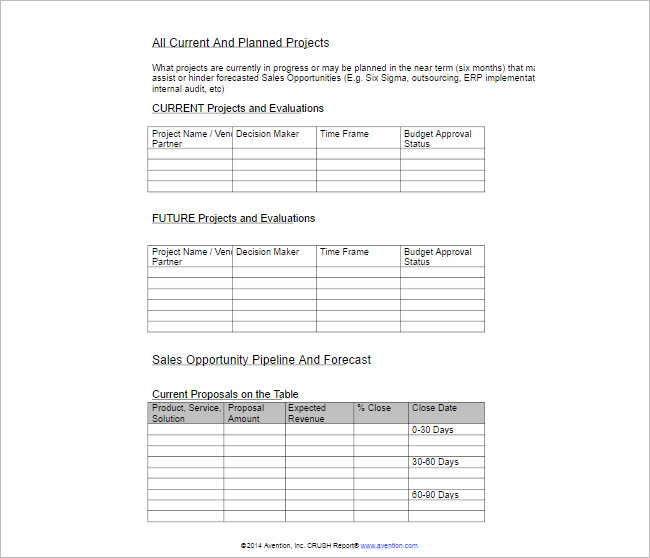 Strategic Sales Forecast Spreadsheet Template