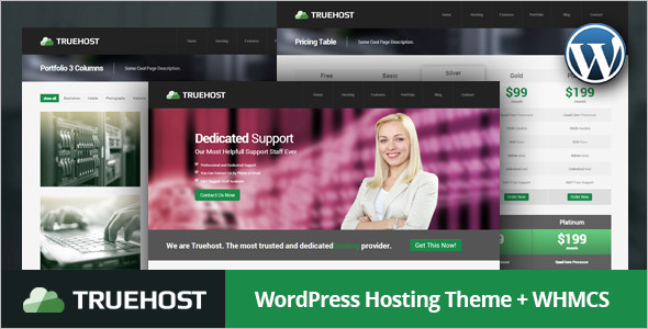 Technology Hosting WordPress template