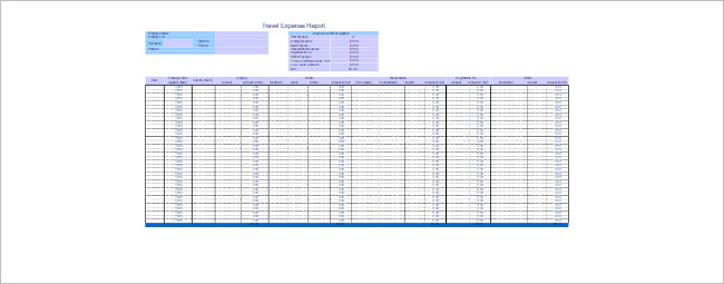 Travel Expense Calculator Spreadsheet Template