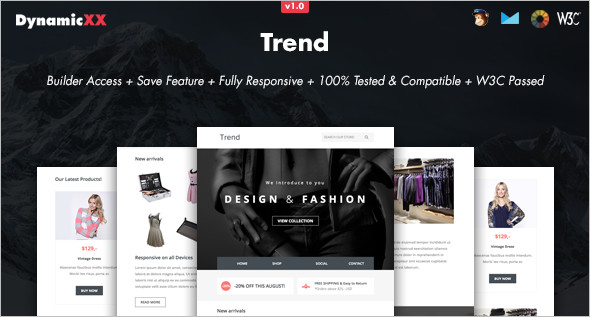 Trendy Online Website Template