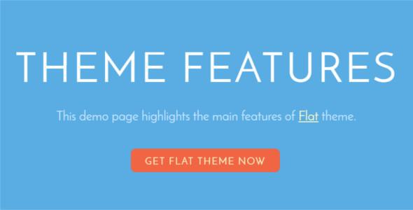 Trendy flat Design WordPress theme