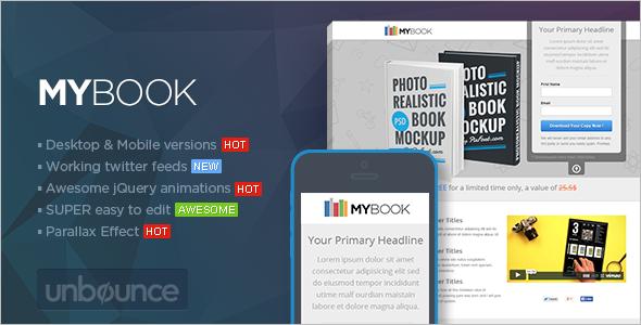 Unbounce ebook Landing page Template