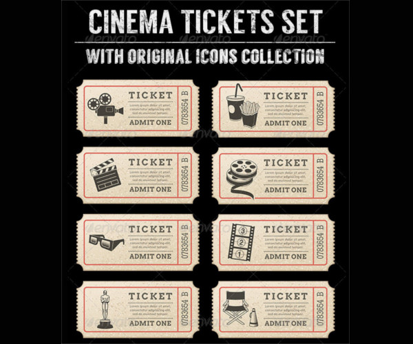 Vector Movie Ticket Template