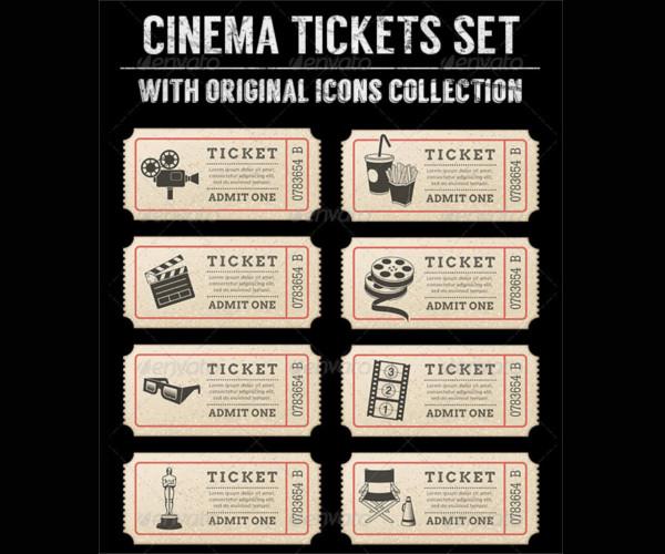 Vector Movie Ticket Template