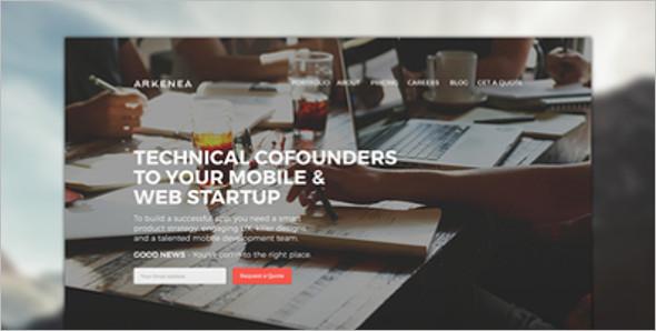 Vector Website Layout Template
