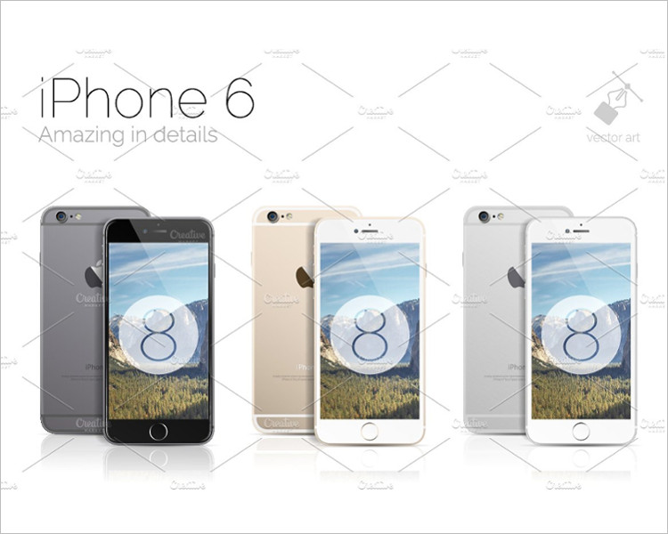 Vector iPhone 6s Plus Phone Mockup