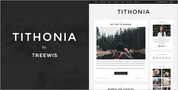 Vectore WordPress Blog Template