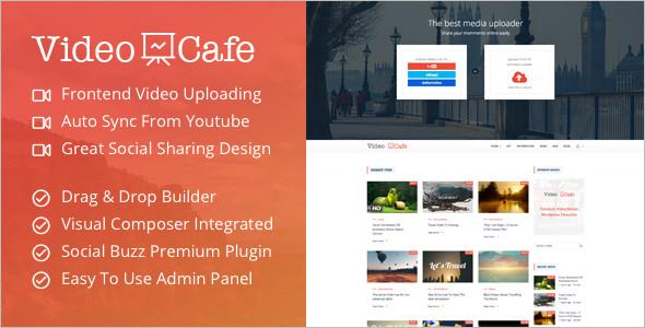 Video Cafe WordPress Template