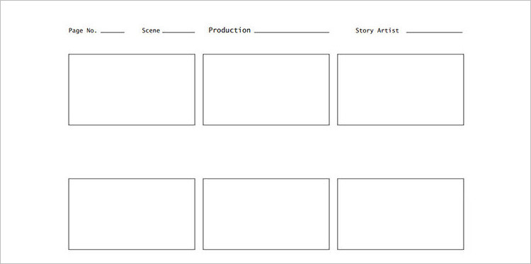 Video Story Board Template Doc